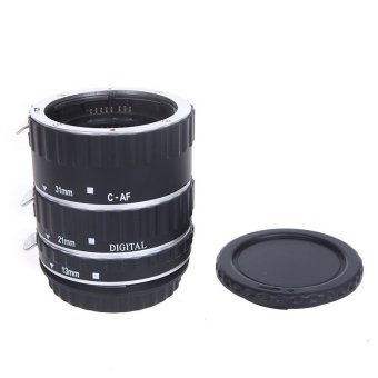 Harga Andoer Colorful Metal TTL Auto Focus AF Macro Extension Tube Ring for Canon EOS EF EF-S 60D 7D 5D II 550D Silver (EXPORT)