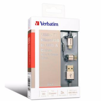 Harga Verbatim 2in1Type-C & MicroUSB to USB Cable 120cm