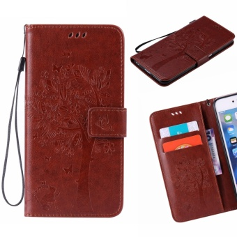 Harga For HTC One 2014 M8 / M8S Phone Case - PU Leather cellphone case Stent Wallet Flip Case - Lucky Wishing Tree - intl