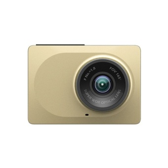 Harga English XiaoMi Xiaoyi Yi Car Dash Driving Recorder Mi Camera 2.7 Inch 165 Degree 1080P HD ADAS CCTV Security (Gold)