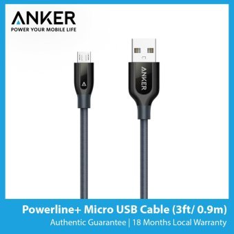 Harga Anker Powerline+ Micro USB Cable (3ft/0.9m)