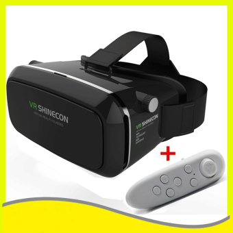 VR SHINECON 3D Virtual Reality Glasses VR Box Headset+ Bluetooth Gamepad(Black)