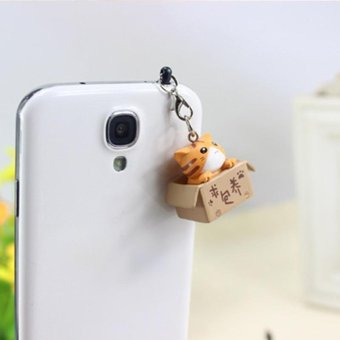 Harga Cute Cat 3.5mm Headphone Earphone Jack Cap Anti Dust Plug For Mobile Smart Phone - intl