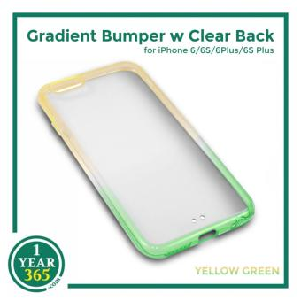 Ombre Bumper with Clear Back for iPhone 6/6S (Yellow Green)