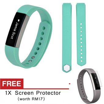 Harga Awinner OEM-Small Size Silicone Watch band Wrist Strap For Fitbit Alta- (cyan) Free Screen Protector (5-PCS)