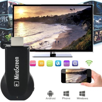 Harga Mirascreen Miracast TV Stick Airplay Dongle Projection for iPhone iPad Android Smartphones Tablets - intl