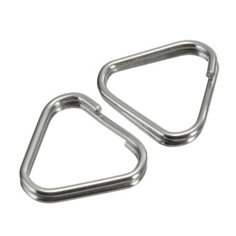 Harga Replacement Metal Chrome Finish Split Ring Camera Strap Triangle Rings Hook Set of 2