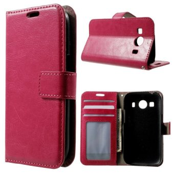 Harga Leather Wallet Stand Cover for Samsung Galaxy Ace Style LTE G357FZ / Ace 4 G357FZ (Magenta)