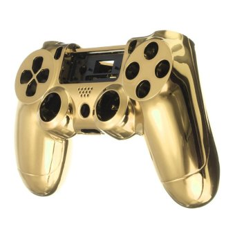 Chrome Skin Housing Shell Case Cover For Sony PlayStation 4 PS4 Controller (Gold) - intl