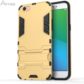 Airress TPU/PC 2in1 Armor Rugged Military Grade Phone Case for Oppo R9s Plus(Gold) - intl