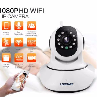Harga LOOSAFE HD 1080P Wireless WIFI Night Vision Security Surveillance IP camera 2 MP Baby Monitor Wireless P2P IP Camara PTZ Wifi Security Cam - intl