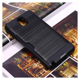 Harga Card holder phone cover case for Samsung Galaxy Note3(Black) - intl