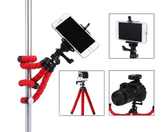 Harga niceEshop Flexible Camera Tripod, Cell Phone Mini Tripod For IPhone 7, Samsung Galaxy Note, And Gopro, Octopus Style Mount - Universal Phone Holder - Solution For Smartphone Photography - intl