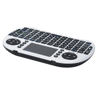 Harga Genuine Rii Mini I8 Mini Wireless 92-Key QWERTY Keyboard Mouse Touchpad with USB Receiver