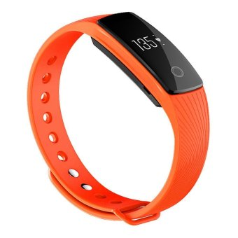 Harga TimeOwner Bluetooth 4.0 Smart Bracelet Heart Rate Monitor Smart Wristband Fitness Tracker Smart Band for Android iOS iPhone 6 6S (Orange)
