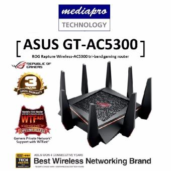 Harga ASUS ROG Rapture GT-AC5300 tri-band gaming router - Best solution for VR gaming and 4K streaming
