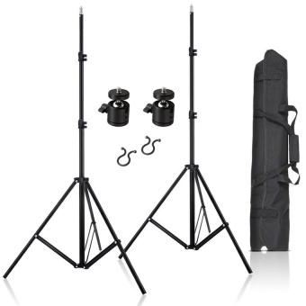 Harga lands 2 Pcs 80 Inch Aluminum Adjustable Impact Tripod Light Stands with Carrying Bag for VIVE VR - intl