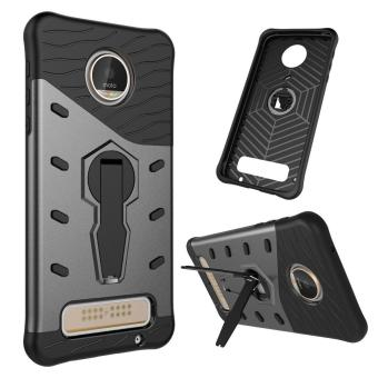 Harga Heavy Duty Shockproof Dual Layer Hybrid Armor Defender Full Body Protective Cover with 360 Degree Rotating Kickstand Case for Motorola MOTO Z Play - intl