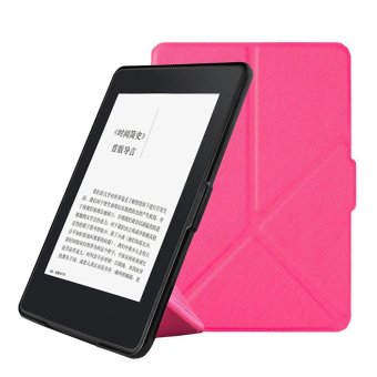 Harga Slim Leather Case Smart Cover For Amazon Kindle Paperwhite 2016 Sleep/Wake Hotpink - intl