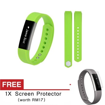 Harga Awinner OEM-Large Size Silicone Watch band Wrist Strap For Fitbit Alta- (Green) Free Screen Protector (5-PCS)