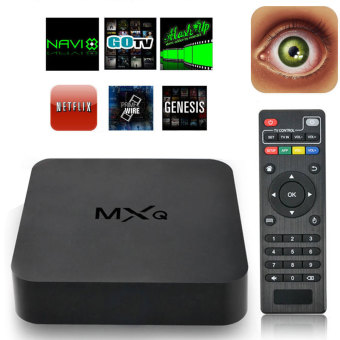 Harga niceEshop MXQ S805 Quad Core Android 4.4 TV Box Media Player 1080P HDMI WiFi 8GB (Black)