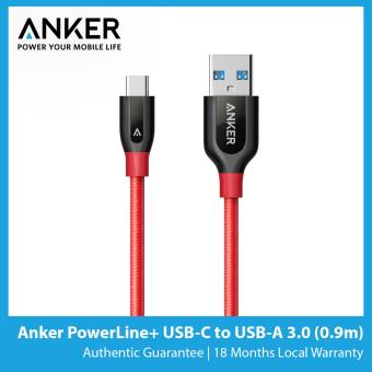 Harga Anker PowerLine+ USB-C to USB-A 3.0 (3ft / 0.9m)