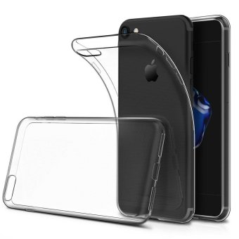 Harga Ultra-thin Soft TPU Clear Case Crystal Transparent Slim Anti Slip Case Back Protector Cover Shockproof for Apple iPhone 7 (Crystal Transparent) - intl