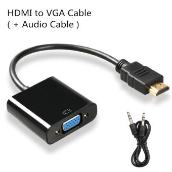 Harga HDMI to VGA Cable,Digital to Analog Audio Converter, HDMI Converter Adapter Video Cable for PC Laptop PS3 TV Box(+Audio Cable)