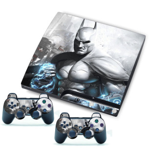 Harga Cool Man Sticker for PlayStation 3 PS3 Slim Console + 2 Controller Skins (EXPORT)