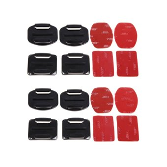 Harga 8Pcs Flat Curved Adhesive Mount Helmet Accessories for Gopro Hero 1/2/3/3
