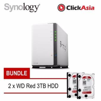 Harga Synology DS216j 2-Bay NAS & 2 x WD Red 3TB HDD Bundle