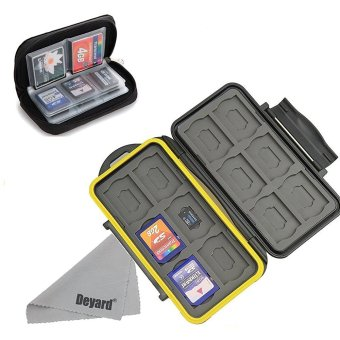 Deyard Water-resistant Memory Card Case Shockproof Memory Card Carrying Box 24 Slots + Pouch Zippered Storage Memory Card Bag 22 Slots for SD SDHC MMC CF Micro SD Cards … - intl