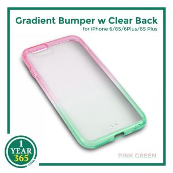 Ombre Bumper with Clear Back for iPhone 6/6S (PinkGreen)