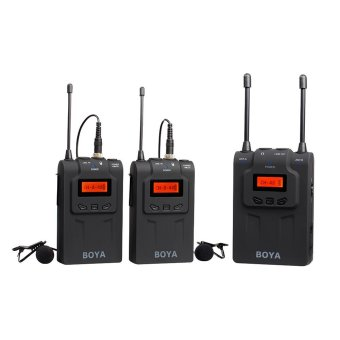 Harga BOYA BY-WM8 UHF Wireless Lavalier Microphone System for ENG DSLR Camera LF778 - intl