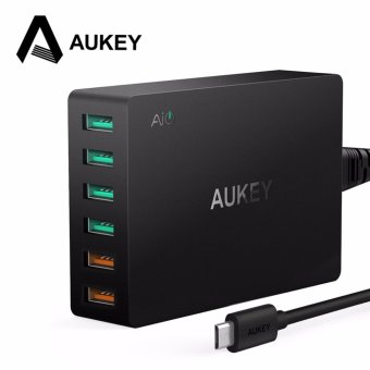 Harga AUKEY Quick Charge 3.0 6-Port USB Travel Quick Charger Universal Charger for Samsung Galaxy S7/S6/Edge - intl