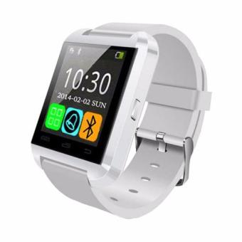 Harga UWatch U8 Smart Watch Bluetooth Smartwatch with Sport Sleep Tracker For iPhone Samsung HTC LG Sony Huawei Android Phones (White)