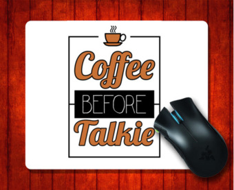 Harga MousePad GMT 000493 Coffee Before Talkie for 240*200*3mm Mouse mat Gaming Mice Pad - intl