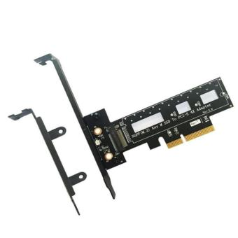 M.2 NGFF PCI-e SSD to PCI Express 3.0 x4 Host Adapter Card - Support M.2 PCIe (NVMe or AHCI) Type 2242 2260 280 - intl