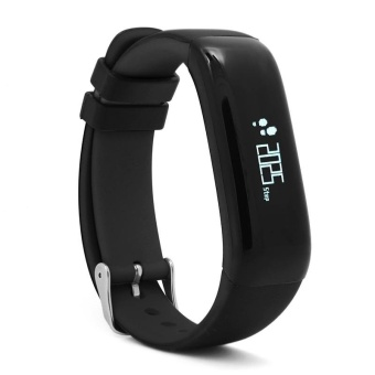 Harga P1 Bluetooth 4.0 Waterproof IP67 Smart Wristband Smartband Blood Pressure Monitor Heart Rate Monitor Smart Bracelet Fitness Tracker Smart Band for Android and IOS - Black - intl