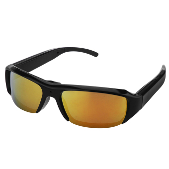 Harga 1080P HD Digital Video Spy Sun Glasses Hidden Camera 5MP Yellow - intl