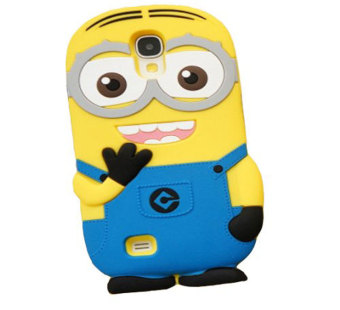 Harga Leegoal 3D Despicable Me Touble Eye Minions Henchmen Soft Silicone Case Skin Protective Cover for Samsung Galaxy S4 i9500 - intl