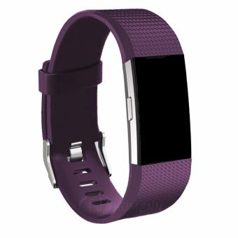 Harga Fitbit Charge 2 Heart Rate + Fitness Wristband, Plum, Large