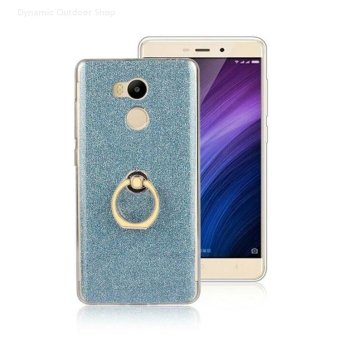 Harga Glitter shiny mobile phone protection shell With stent phone cases for Xiaomi Redmi 4 - Blue - intl