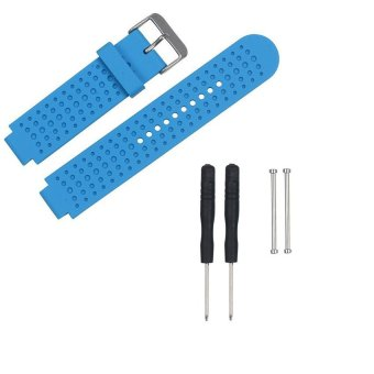 Harga AWINNER Replacement Sport Colourful Band for Garmin Forerunner 230/235/630/220/620/735 GPS Golf Watch-(Blue)