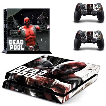 New Deadpool Vinyl Decal PS4 Skin Sticker For Sony Playstation 4 PS4 Console protection film and 2Pcs Controller Protective skins - intl