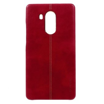 Harga VORSON PU Leather Coated PC Back Cover for Huawei Mate 8 - Red - intl