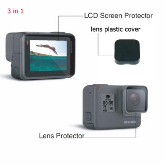 Harga 3 in 1 Screen Protector Cover Lens Protective Film For gopro hero5 Gopro hero 5 gopro 5 black camera - intl