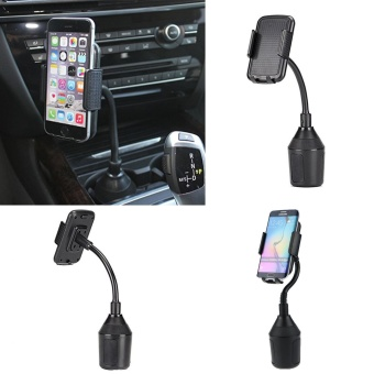 Harga Universal Adjustable Car Gooseneck Cup Mount Holder Cradle For Cell Phone iPhone GPS - intl