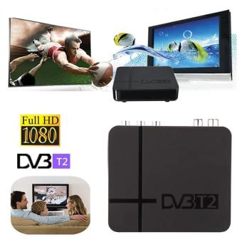 DVB T2 Tuner MPEG4 DVB-T2 HD Compatible With H.264 TV Receiver W/ RCA / HDMI PAL/NTSC Auto Conversion - intl