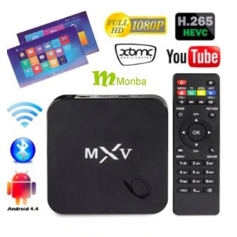 Harga MXV Android TV BOX Kodi fully loaded XBMC Amlogic S805 Quad Core1GB/8GB Wifi LAN 4k tv blu ray player Kodi Player Streaming MediaPlayer - intl